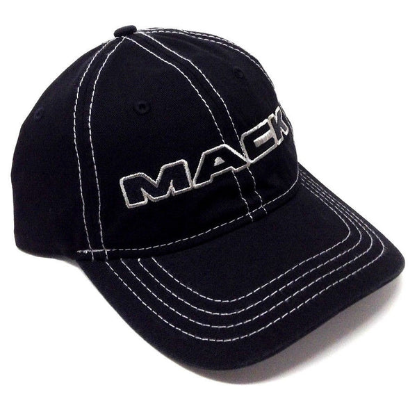 Mack Trucks Black w/Grey Stitching Slouch Curved Bill Snapback