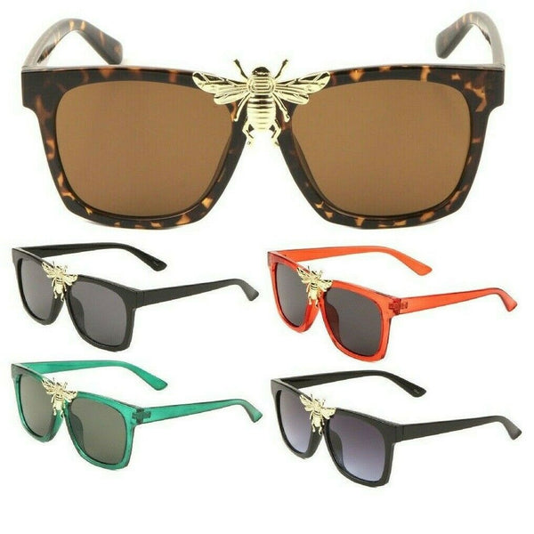 3D Big Killer Bee Luxury Classic Square Hip Hop Sunglasses
