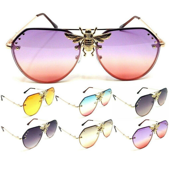 3D Killer Bee Luxury Hip Hop Aviator Sunglasses Floating Lenses