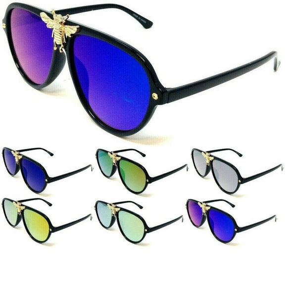 3D Killer Bee Classic Luxury Hip Hop Aviator Sunglasses