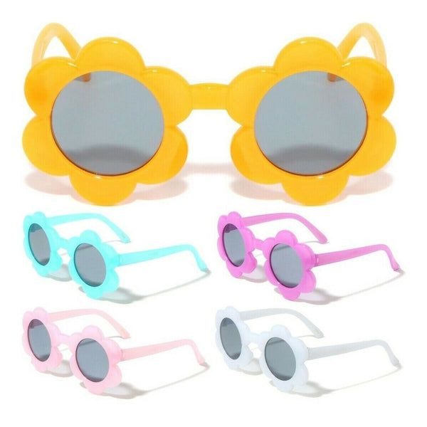 Kids Youth Sunflower Shaped Classic Sunglasses