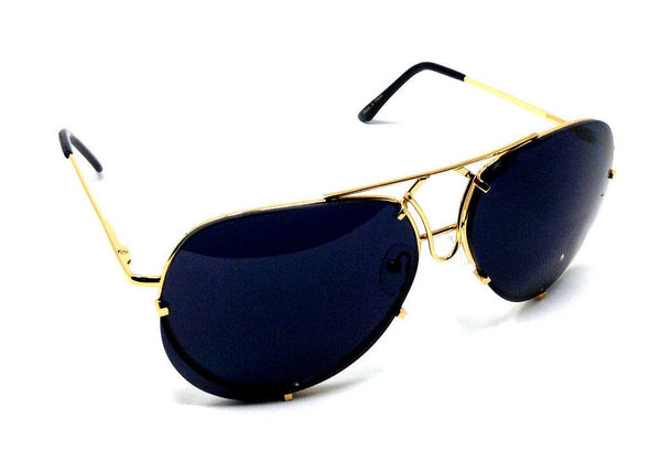 Retro Turbo Floating Lens Luxury Aviator Sunglasses