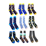 Fine Fit Casual Funny Animal Pattern Knit Crew Socks