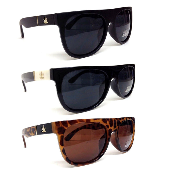 Square Classic Marijuana Weed Leaf Retro Sunglasses
