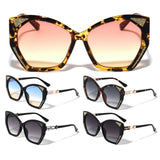 Womens Oversized Elegant Luxury Butterfly Bedazzled Glitter Jackie O Sunglasses