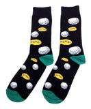 Fine Fit Casual Novelty Pattern Knit Crew Socks