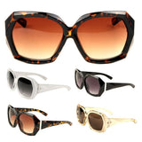 Womens Oversized Faceted Geometric Square Luxury Sunglasses
