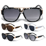 Thick Bold Classic Square Oversized Elegant Luxury Aviator Sunglasses