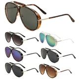 Oversized Outdoorsman Retro Pilot Aviator Sunglasses w/ Side Shield