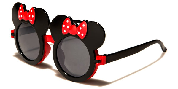 Kids Mouse Ears & Bow Cute Flip Out Sunglasses