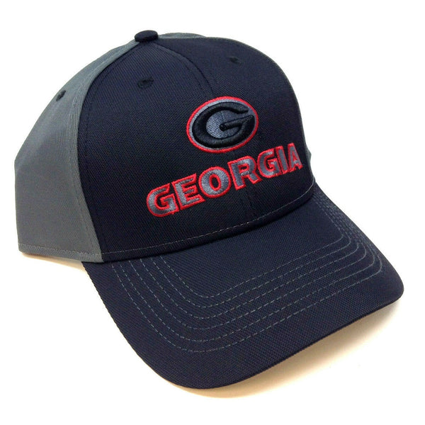 University Of Georgia Bulldogs UGA Text Logo MVP Curved Bill Adjustable Hat