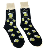 Fine Fit Casual Fast Food Snack Pattern Knit Crew Socks