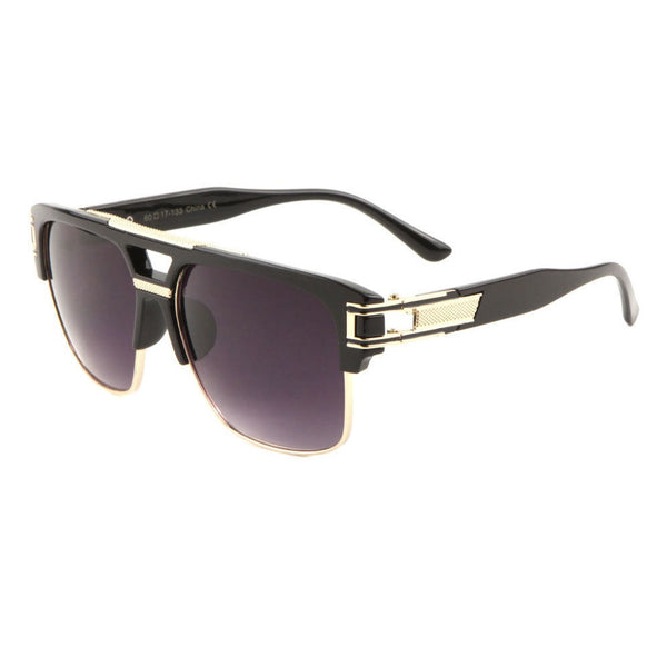 Gazelle Mafioso Metal & Plastic Retro Flat Top Sunglasses