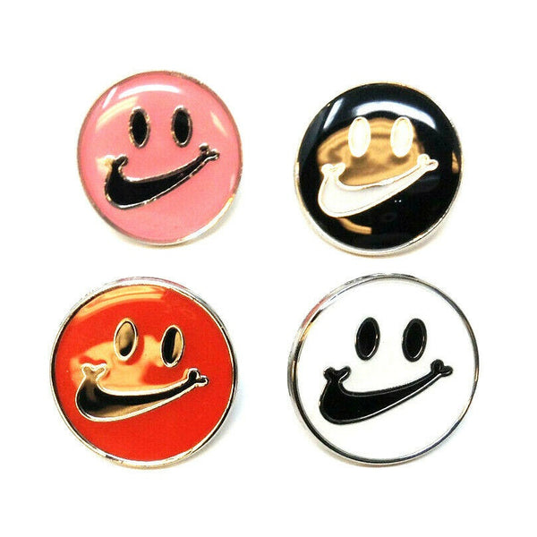 Metal & Enamel Nike Swoosh Check Mark Smiley Face Emoji Logo Lapel Pin Button