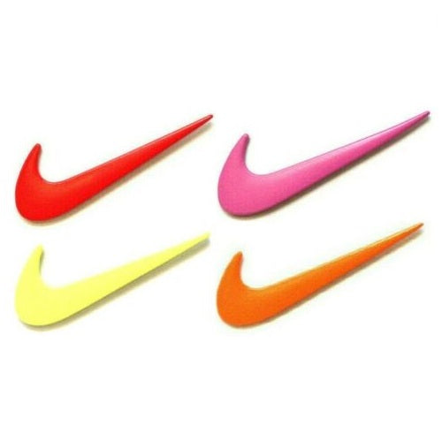 Metal Nike Logo Swoosh Check Mark 2 Piece Lapel Piece Set