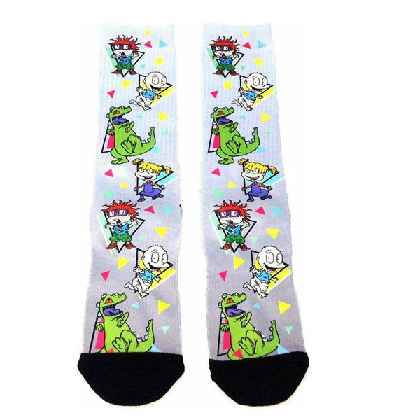 Nickelodeon Tommy Angelica Chucky Reptar Premium Sublimated Crew Socks