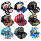 Crown Sublimated All Over Print Mesh Trucker Snapback Hat