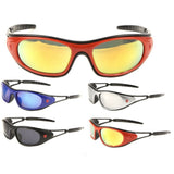 Khan Slim Wrap Around Sport Chopper Sunglasses