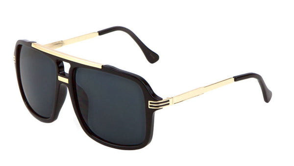 Evidence Metal & Plastic Hip Hop Flat Top Aviator Sunglasses