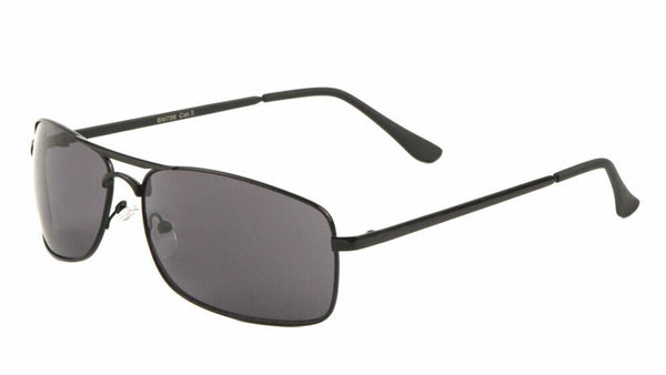 Matrix Slim Rectangular Classic Aviator Sunglasses
