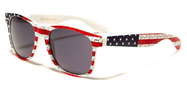 USA American Flag Stars & Stripes Patriotic Square Sunglasses