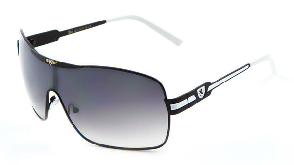 Khan Sport Shield Aviator Wrap Around One Piece Lens Luxury Sunglasses