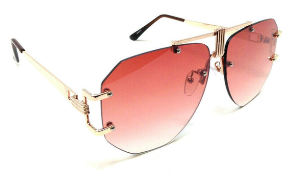 Syndicate Oversized Rimless Square Luxury Aviator Sunglasses