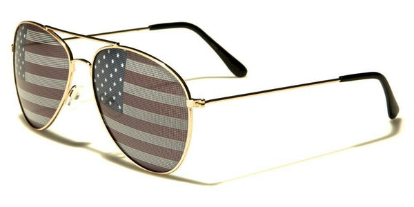 USA United States Flag Classic Pilot Aviator Sunglasses