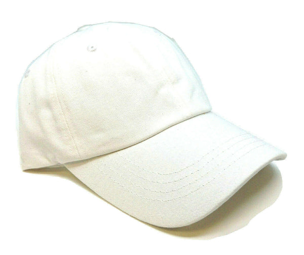 Solid Plain Blank Cotton Twill Adjustable Curved Bill Dad Hat