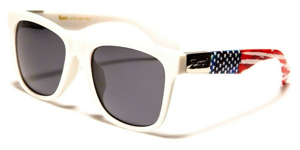Locs USA American Flag Stars & Stripes Patriotic Square Sunglasses