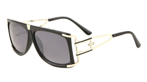 Gazelle Superfly Oversized Flat Top Square Hip Hop Luxury Aviator Sunglasses