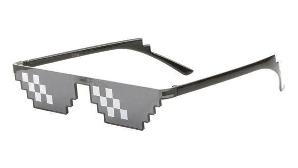 Thug Life Meme Emoji Pixelated Rimless Sunglasses