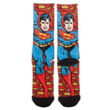 DC Comics Justice League Superman Retro Sublimated Mens Crew Socks