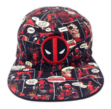 Marvel Comics Deadpool Reversible Flat Bill Adjustable Hat