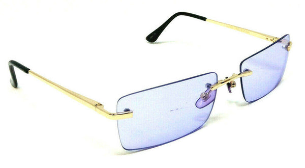 Ambassador Slim Rimless Rectangular Luxury Aviator Sunglasses