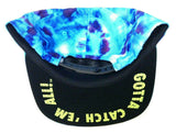 Pokemon Gotta Catch 'Em All Blue Tie Dye Group Slouch Snapback