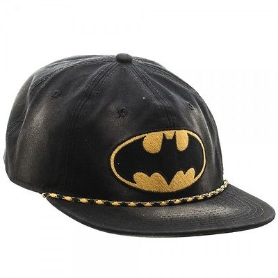 DC Comics Batman Logo Washed 6 Panel Slouch Snapback