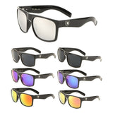 Khan Square Retro Classic Flat Top Sport Sunglasses