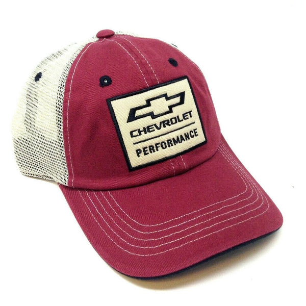 Chevrolet Performance Bowtie Logo Adjustable Mesh Trucker Hat