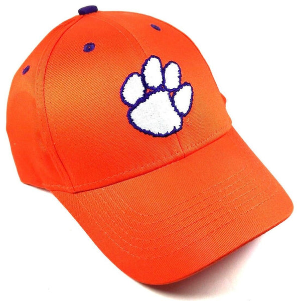 Clemson University Tigers Paw Logo Orange MVP Curved Bill Adjustable Hat