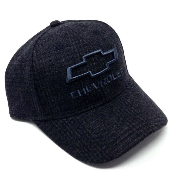 Chevrolet Grey Wool Bow Tie Logo Adjustable Curved Bill Hat