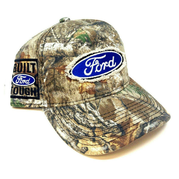 Ford Patch Realtree Camo Adjustable Curved Bill Hat