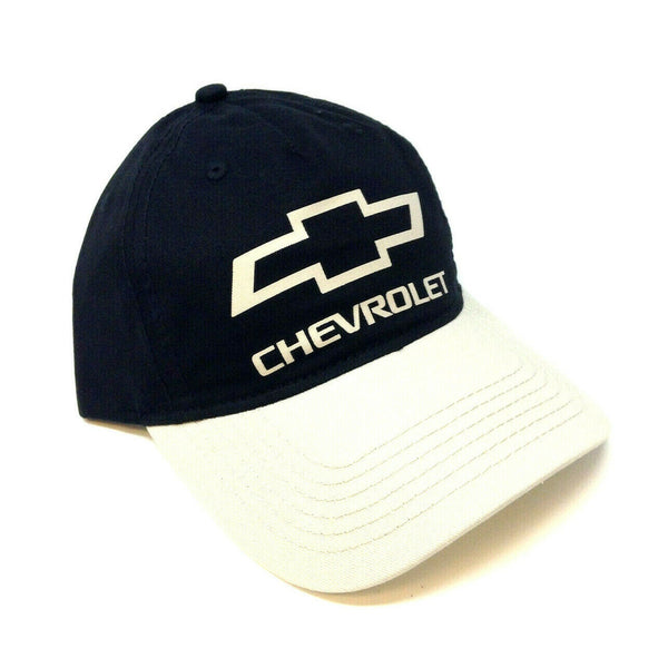 Chevrolet Black Bow Tie Logo Adjustable Curved Bill Hat