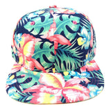 Bright Multicolor Hibiscus Hawaiian All Over Floral Print Snapback