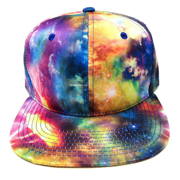 Tie Dye Galaxy Sublimated All Over Print Snapback