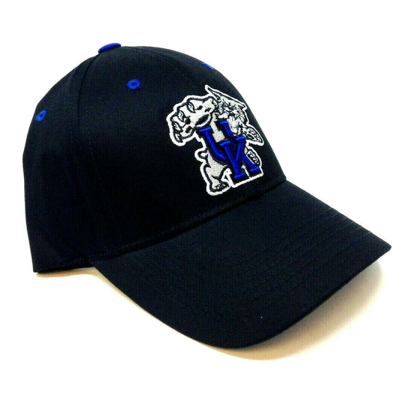 University Of Kentucky Wildcats Mascot Logo Black MVP Curved Bill Adjustable Hat
