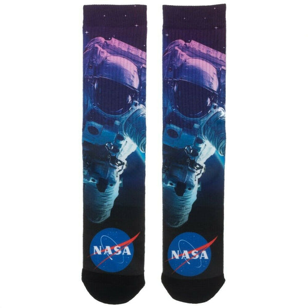 Nasa Spaceman Astronaut Outer Space Premium Sublimated All Over Print Men's Crew Socks