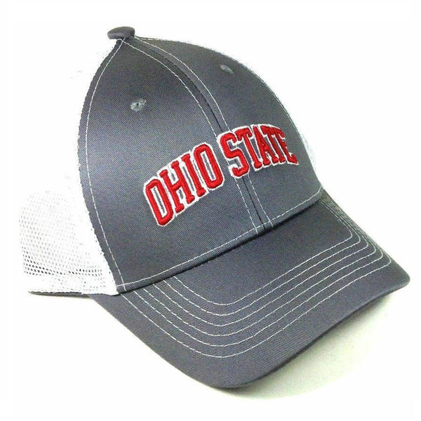 Ohio State University Buckeyes Grey Ghost Adjustable Mesh Trucker Curved Bill Snapback Hat