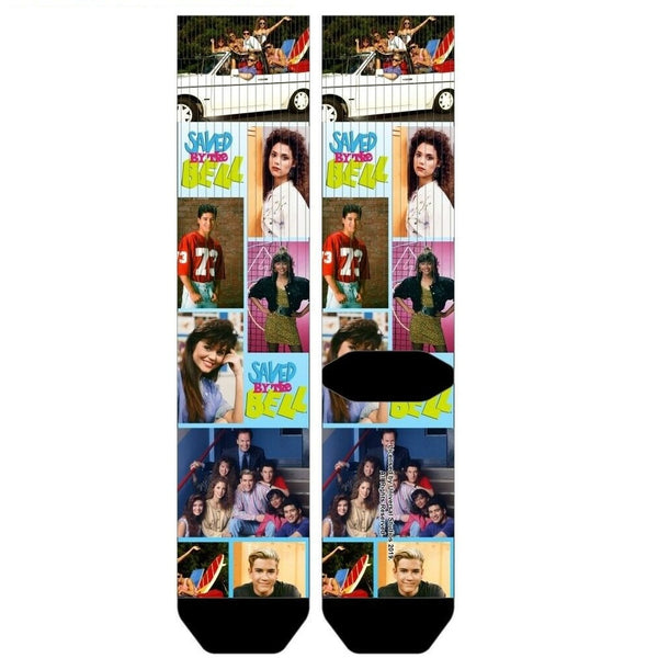 Saved By The Bell Scene Panels Premium Sublimated All Over Print Men's Crew Socks