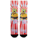 Nickelodeon Spongebob Squarepants The Krusty Krab Sublimated All Over Print Men's Crew Socks